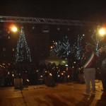 Colleferro. Tanti bambini e tante emozioni alla fiaccolata tenutasi questa sera da Piazza A. Moro a Piazza Italia