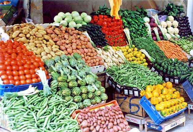 Come esporre la frutta e verdura