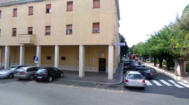 La sede della Compagnia dei Carabinieri di Colleferro