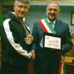 Riconoscimento dell'Amministrazione comunale di Colleferro a Emilio Liguori, attuale campione nazionale di karate
