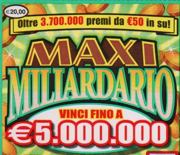 Gratta e vinci, biglietto da 5 milioni a Sezze (LT)