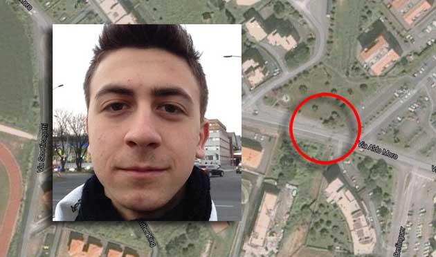 Luca Perugini luogo incidente