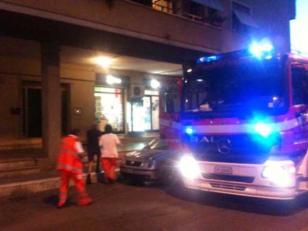 Colleferro. Un principio d'incendio in Via XXV Aprile allarma i Vigili del Fuoco e l'ambulanza del 118