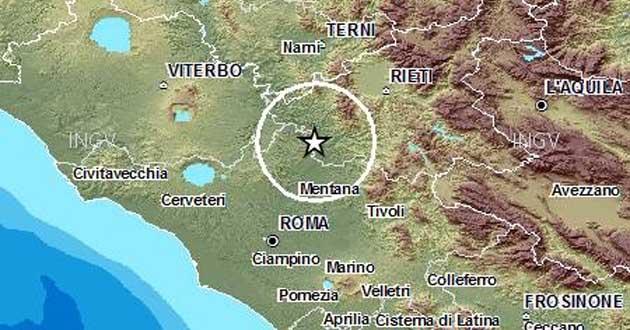 L'epicentro localizzato tra la Provincia di Rieti e l'Area Metropolitana di Roma Capitale