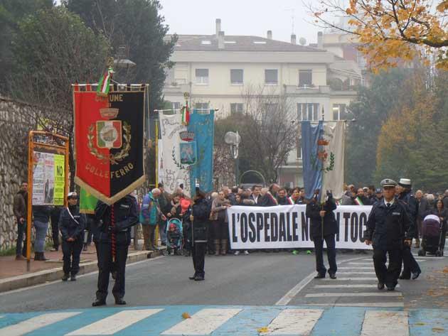 Colleferro. Manifestazione Ospedale - 20141127