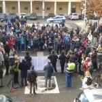Colleferro. Raccolta firme e manifestazione in Piazza Italia. Ancora: «L'Ospedale non si tocca!» [Foto]