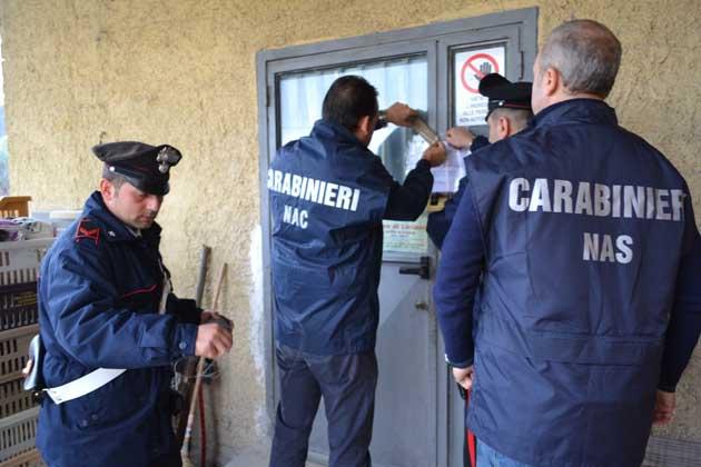 L'intervento dei Carabinieri per il sequestro dei 4 panifici abusivi (1)