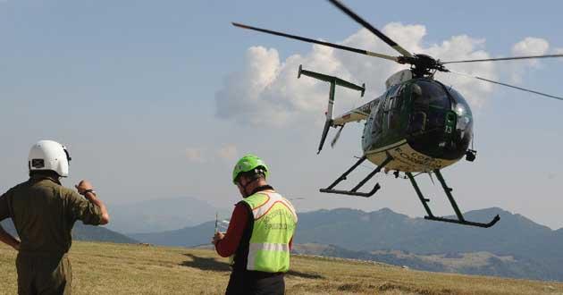 Prevista una simulazione d'intervento con ausilio degli elicotteri Domenica 8 Febbraio dalle 11 alle 13 in Piazzale S. Nilo
