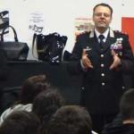"""Colleferro. La Scuola Media """"Leonardo Da Vinci"""" incontra il Capitano dei Carabinieri Mario Matteucci [Foto]"""