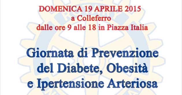 Colleferro. Rotary Club. Giornata Prevenzione 2015