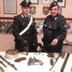 """Cervaro. Detenzione illegale di armi e ricettazione. Pensionato arrestato dai Carabinieri. Sequestrata la """"Santa Barbara"""""""