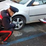 Sorpresi a rubare i pneumatici di un'auto in sosta alla Stazione ferroviaria di Valmontone. Arrestati dai Carabinieri un valmontonese ed un artenese