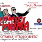 """Colleferro. Dopo """"Finché vita non ci separi"""", Luciano Fontana & Co. tornano in teatro con """"Nemici Come Prima"""" al Vittorio Veneto dal 17 Maggio"""