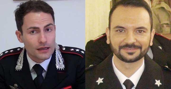 Il Cap. Ettore Pagnano ed il Ten. Agatino Roccazzello