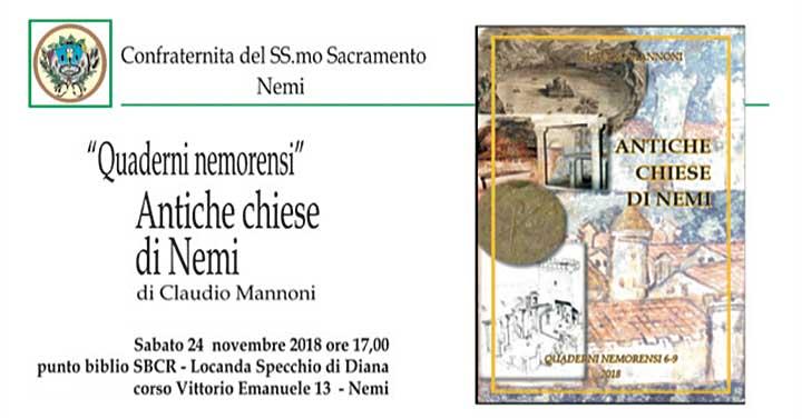 Nemi per i quaderni nemorensi sabato 24 novembre claudio mannoni presenter le sue ricerche - Lo specchio di diana nemi ...
