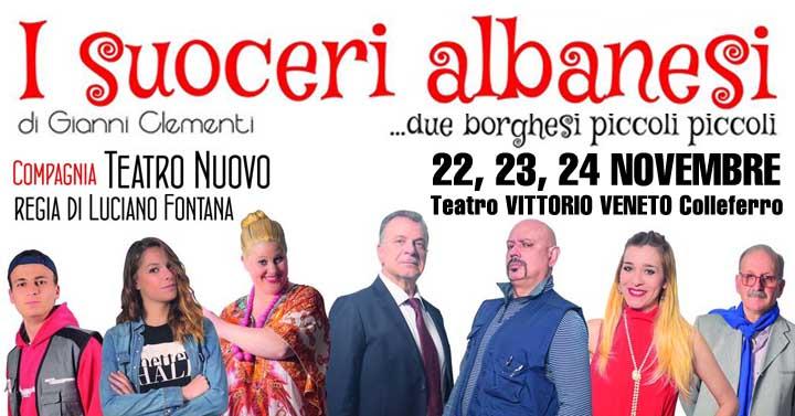 """Colleferro. """"I Suoceri Albanesi"""", il 22, 23 e 24 Novembre al Teatro Vittorio Veneto. Intervista con i protagonisti - Cronache Cittadine"""
