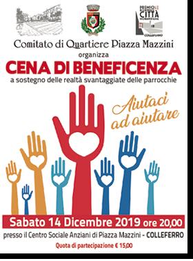 Cena beneficenza Comitato Piazza Mazzini